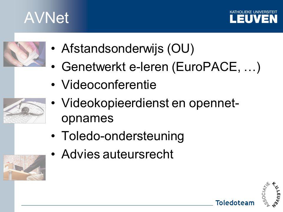 AVNet Afstandsonderwijs (OU) Genetwerkt e-leren (EuroPACE, …)