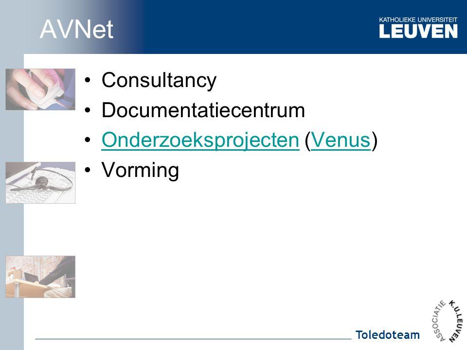 AVNet Consultancy Documentatiecentrum Onderzoeksprojecten (Venus)
