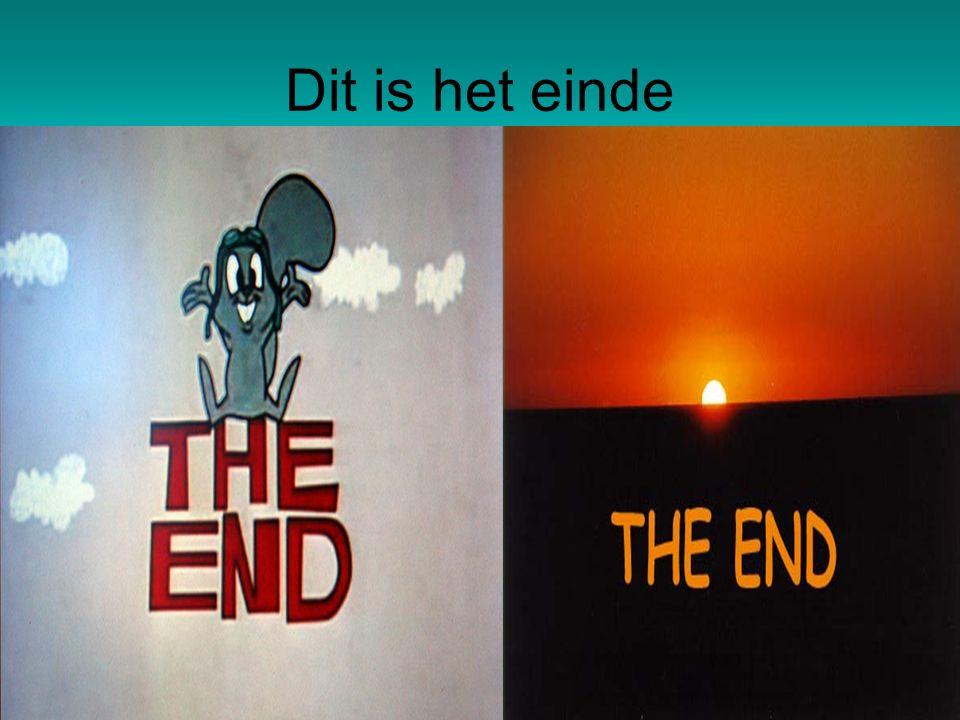 Dit is het einde