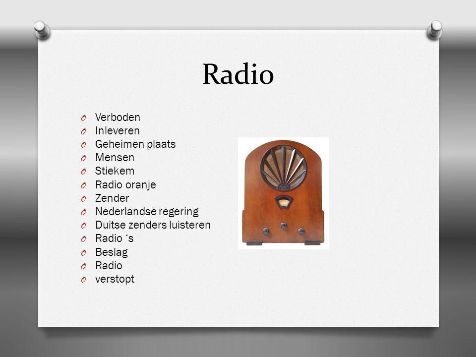 Radio Verboden Inleveren Geheimen plaats Mensen Stiekem Radio oranje