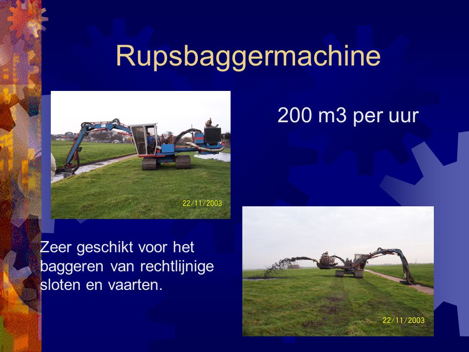 Rupsbaggermachine 200 m3 per uur