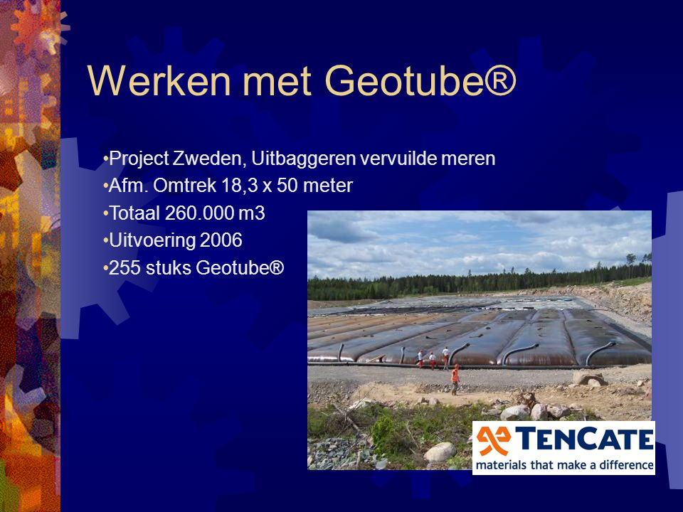 Werken met Geotube® Project Zweden, Uitbaggeren vervuilde meren
