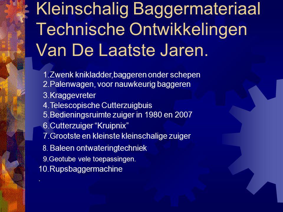 Kleinschalig Baggermateriaal Technische Ontwikkelingen Van De Laatste Jaren.