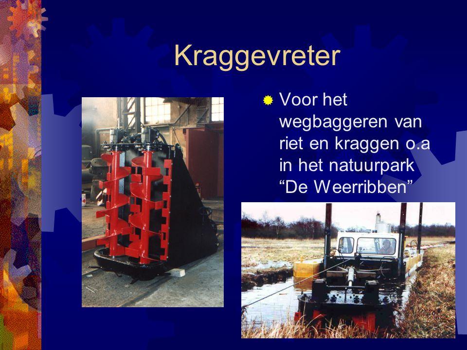 Kraggevreter Voor het wegbaggeren van riet en kraggen o.a in het natuurpark De Weerribben