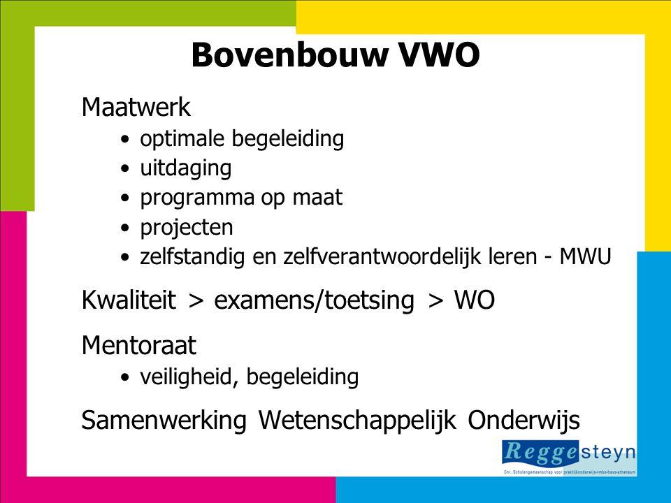 Bovenbouw VWO Maatwerk Kwaliteit > examens/toetsing > WO
