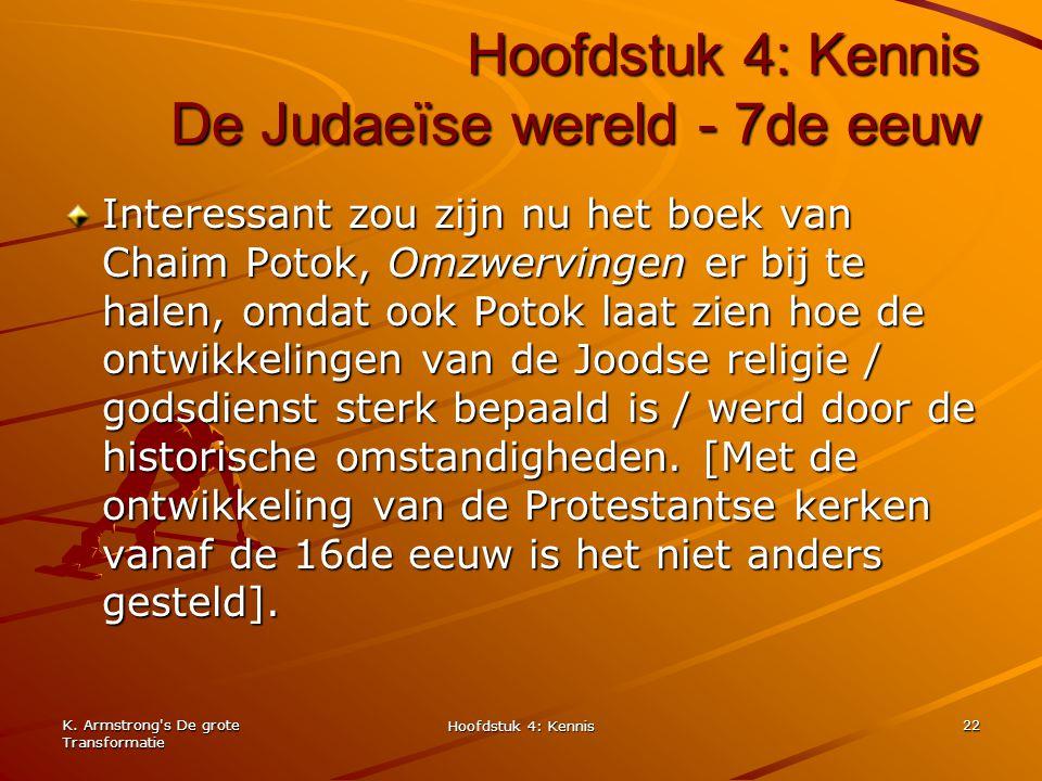 Hoofdstuk 4: Kennis De Judaeïse wereld - 7de eeuw