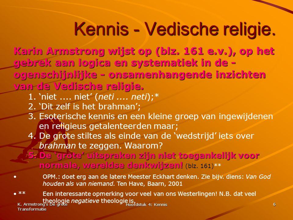 Kennis - Vedische religie.