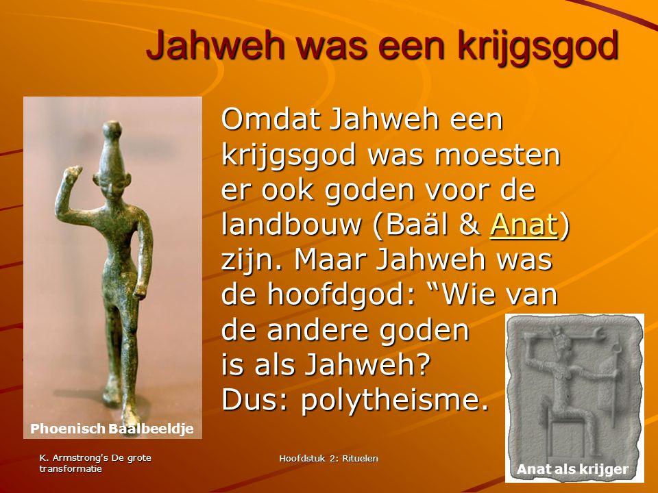 Jahweh was een krijgsgod