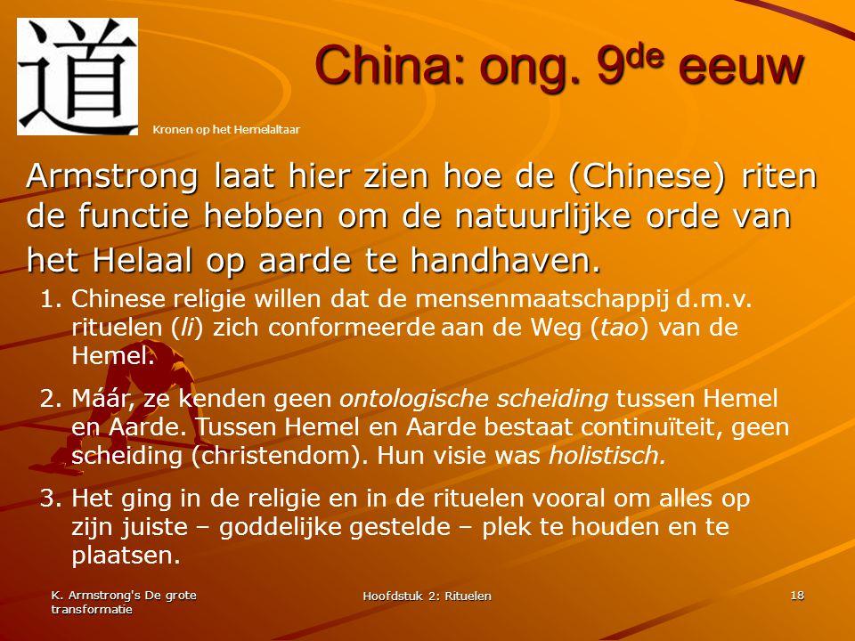 China: ong. 9de eeuw Kronen op het Hemelaltaar.