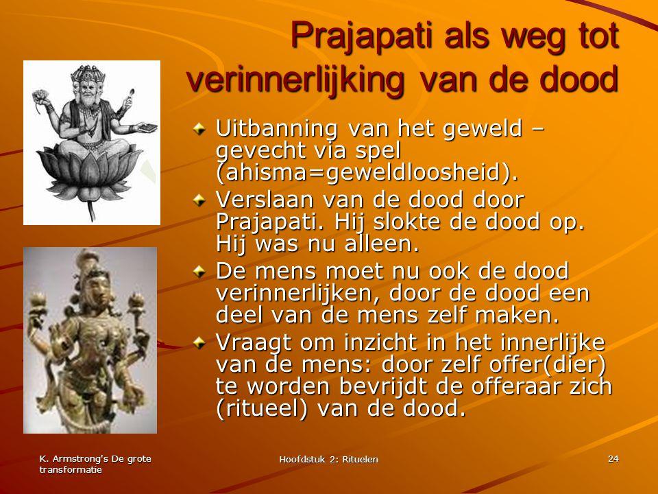 Prajapati als weg tot verinnerlijking van de dood