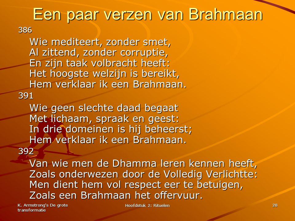Een paar verzen van Brahmaan
