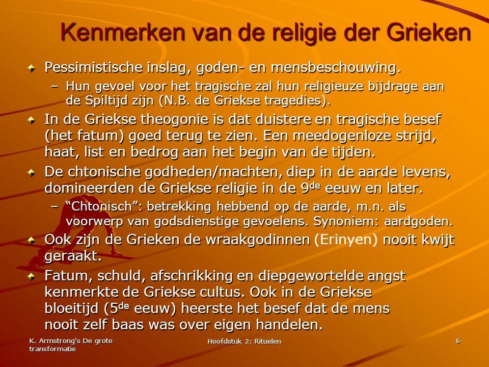 Kenmerken van de religie der Grieken