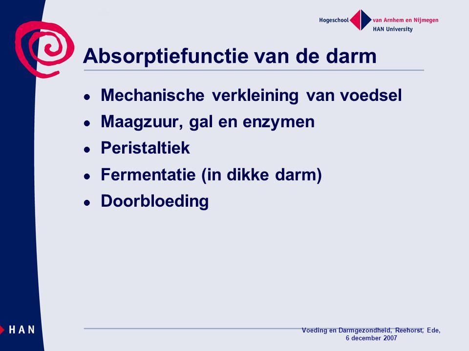 Absorptiefunctie van de darm