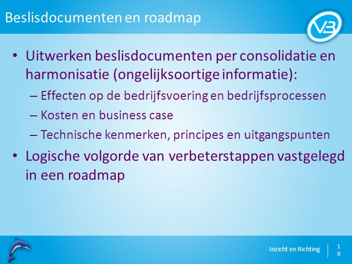 Beslisdocumenten en roadmap
