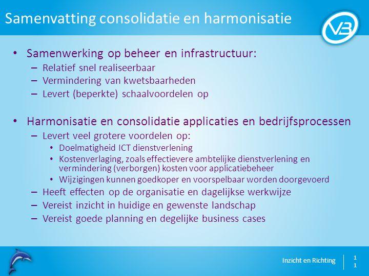 Samenvatting consolidatie en harmonisatie