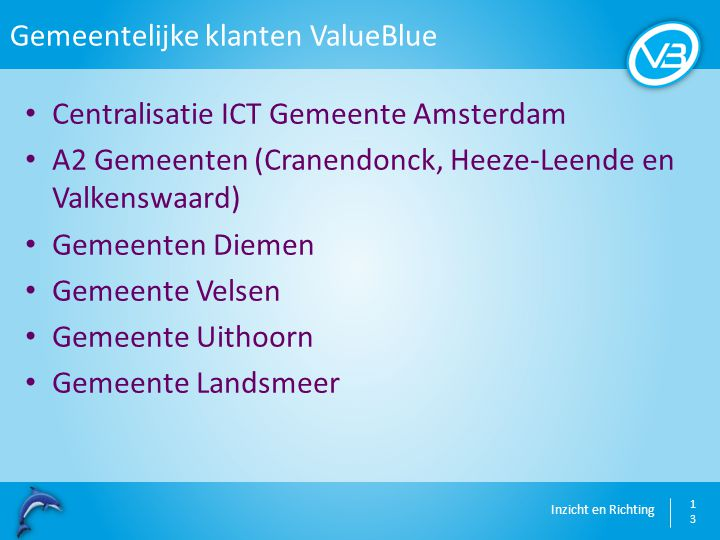 Gemeentelijke klanten ValueBlue