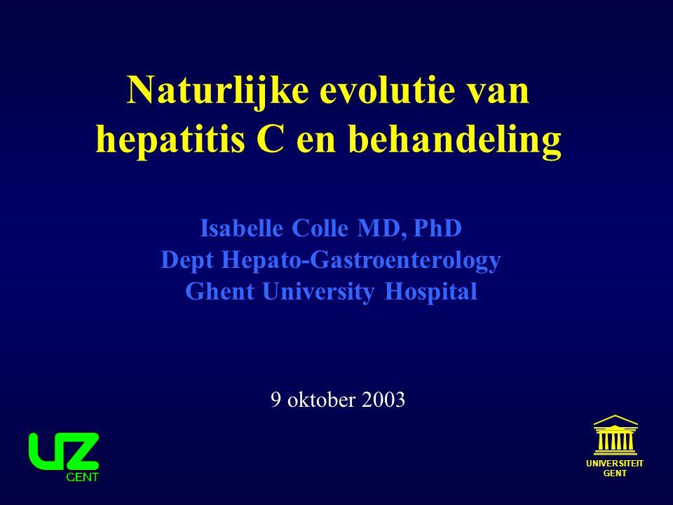 Naturlijke evolutie van hepatitis C en behandeling