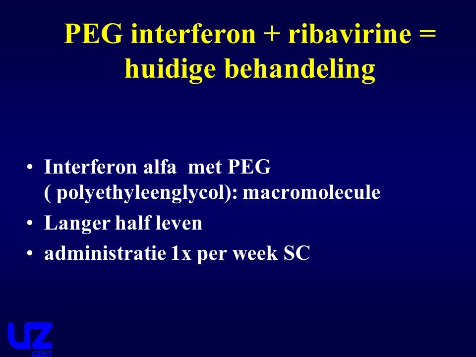PEG interferon + ribavirine = huidige behandeling