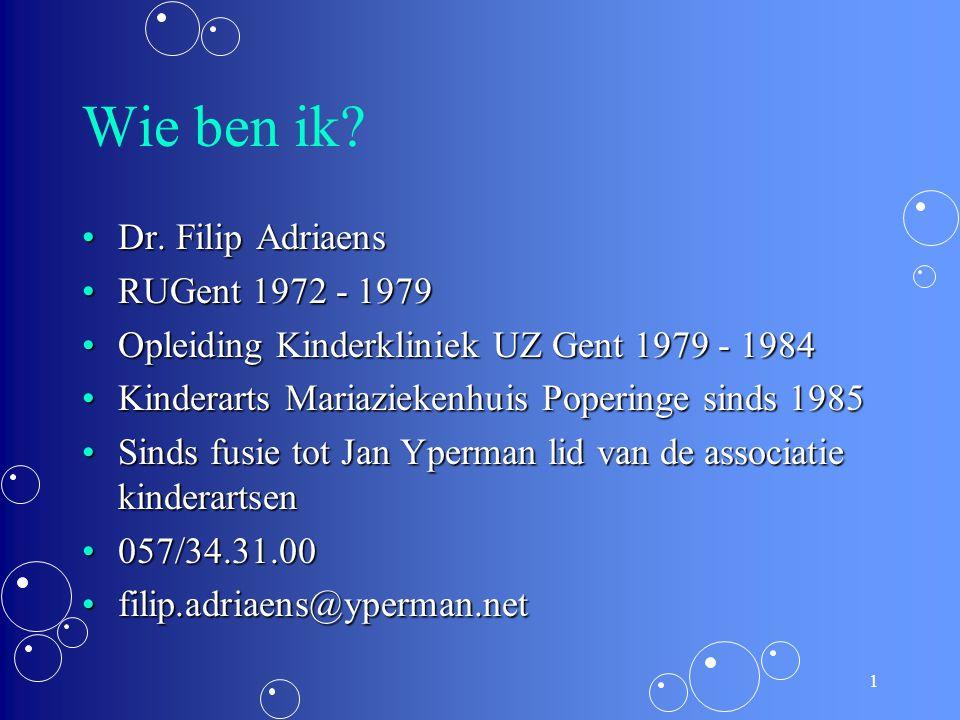Wie ben ik Dr. Filip Adriaens RUGent 1972 - 1979