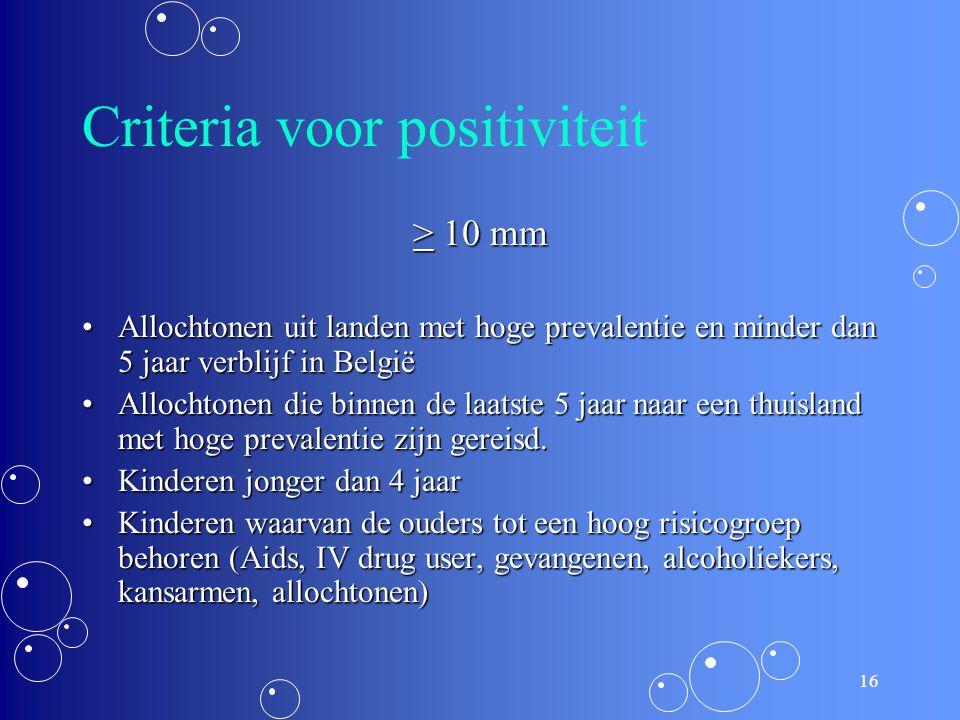 Criteria voor positiviteit