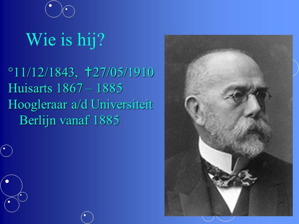 Wie is hij °11/12/1843, 27/05/1910 Huisarts 1867 – 1885