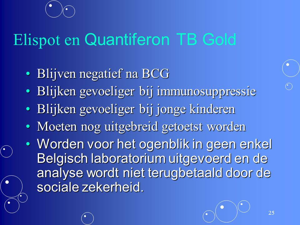 Elispot en Quantiferon TB Gold
