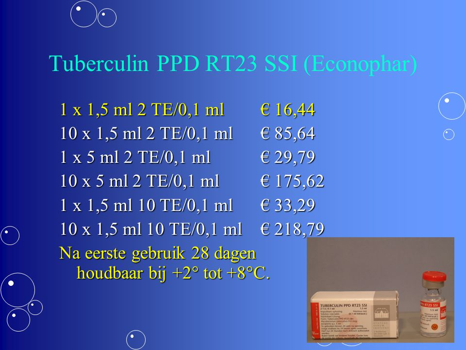 Tuberculin PPD RT23 SSI (Econophar)