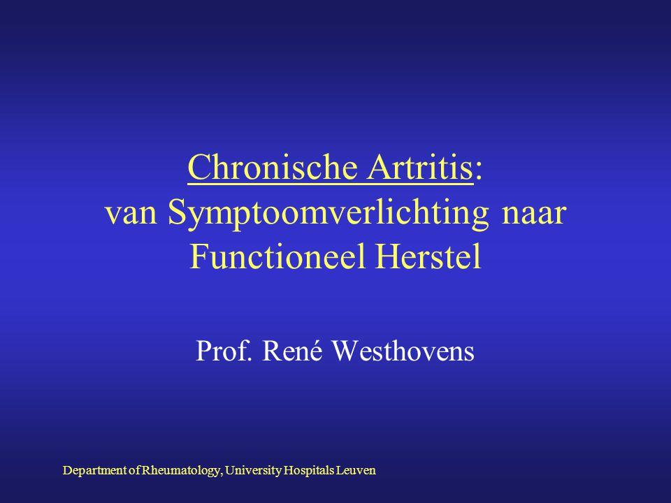 Chronische Artritis: van Symptoomverlichting naar Functioneel Herstel