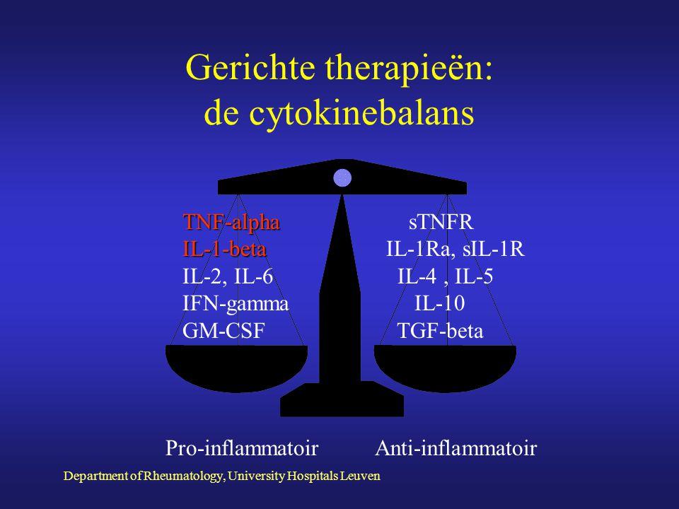 Gerichte therapieën: de cytokinebalans