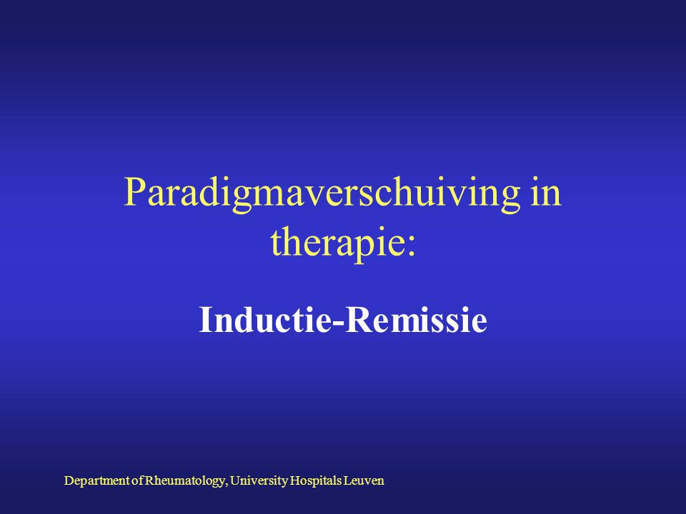 Paradigmaverschuiving in therapie: