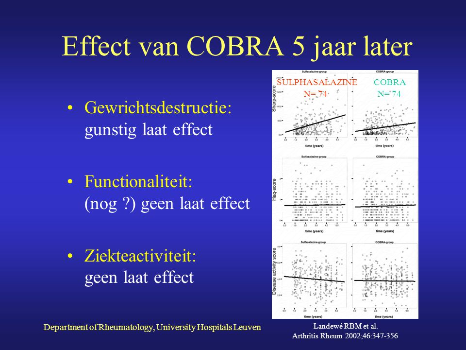 Effect van COBRA 5 jaar later