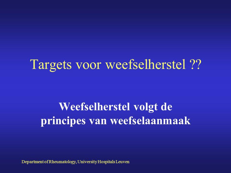 Targets voor weefselherstel