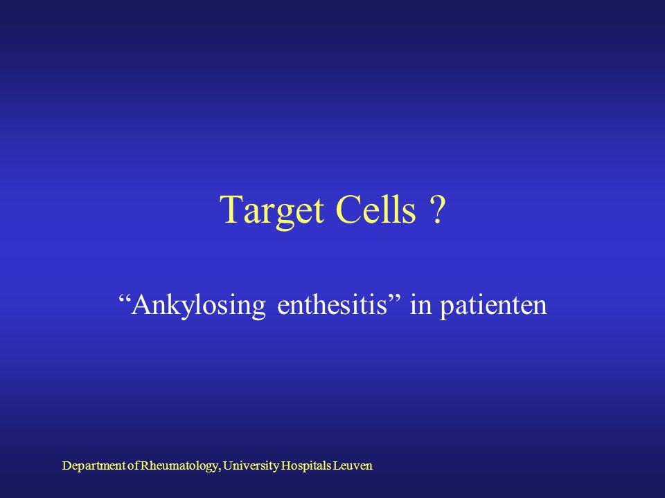 Ankylosing enthesitis in patienten