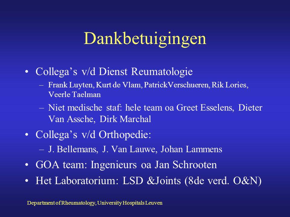 Dankbetuigingen Collega's v/d Dienst Reumatologie