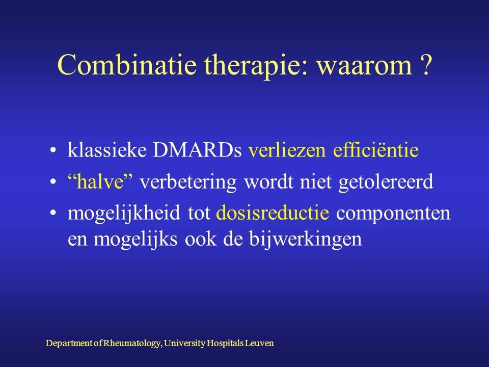 Combinatie therapie: waarom