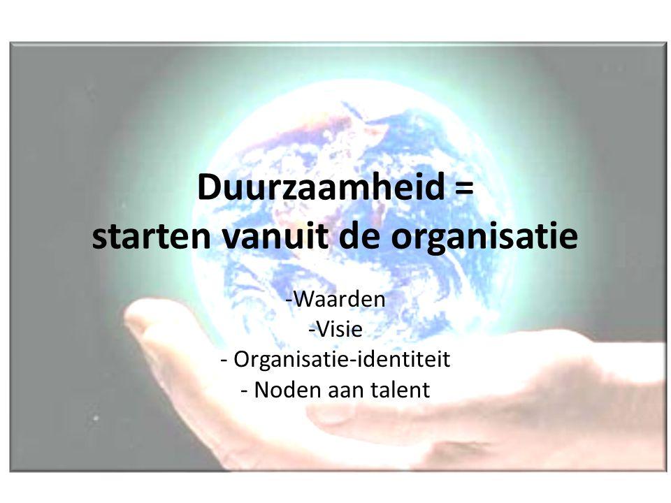 Duurzaamheid = starten vanuit de organisatie