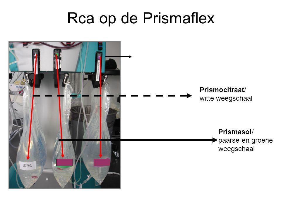 Rca op de Prismaflex Prismocitraat/ witte weegschaal