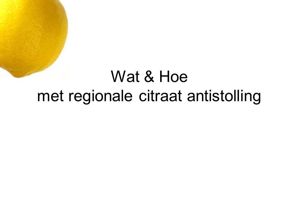 Wat & Hoe met regionale citraat antistolling
