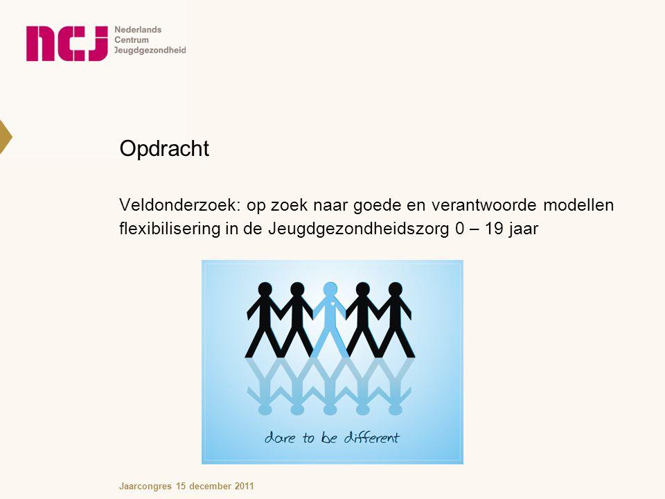 Opdracht Veldonderzoek: op zoek naar goede en verantwoorde modellen flexibilisering in de Jeugdgezondheidszorg 0 – 19 jaar.