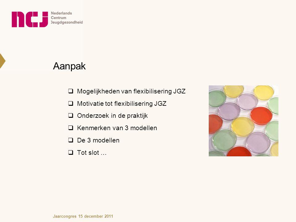 Aanpak Mogelijkheden van flexibilisering JGZ