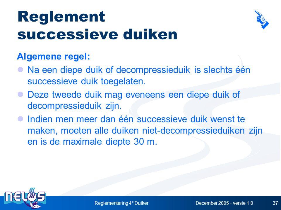 Reglement successieve duiken