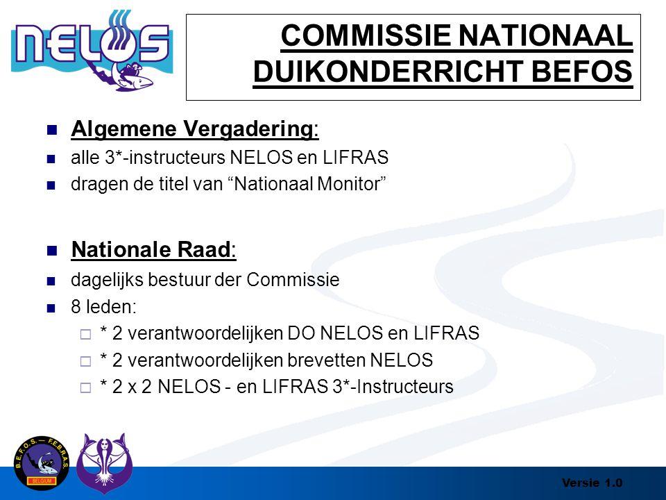 COMMISSIE NATIONAAL DUIKONDERRICHT BEFOS