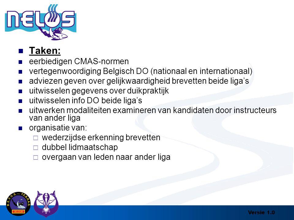 Taken: eerbiedigen CMAS-normen