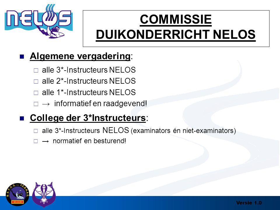 COMMISSIE DUIKONDERRICHT NELOS