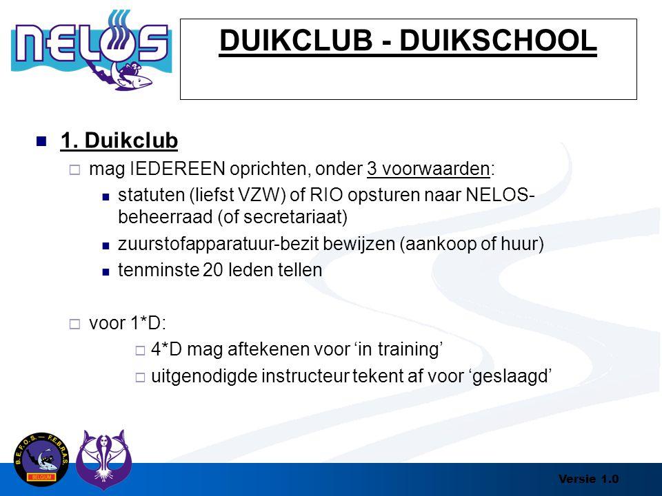 DUIKCLUB - DUIKSCHOOL 1. Duikclub