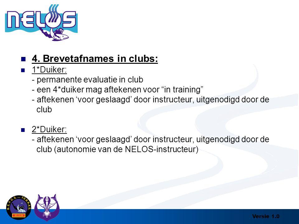 4. Brevetafnames in clubs: