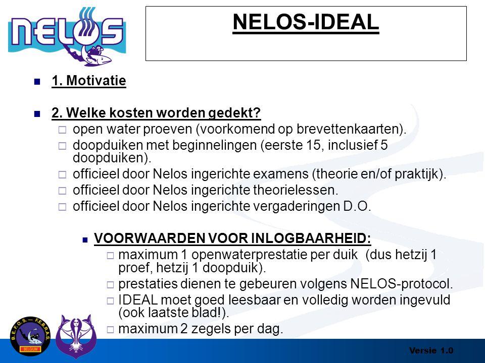 NELOS-IDEAL 1. Motivatie 2. Welke kosten worden gedekt