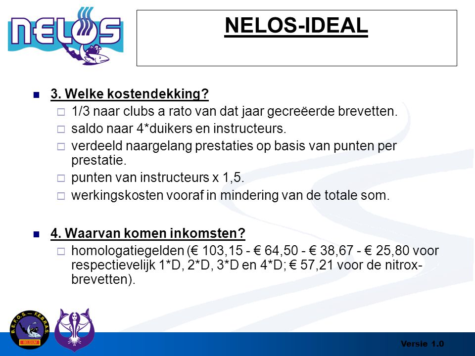 NELOS-IDEAL 3. Welke kostendekking