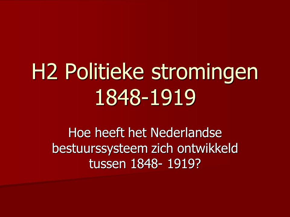 H2 Politieke stromingen 1848-1919