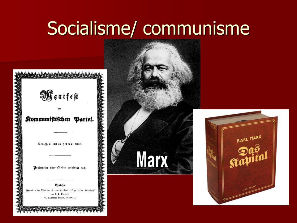 Socialisme/ communisme